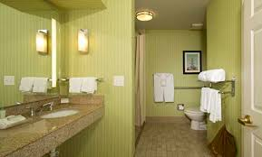 Bathroom With Shower Homewood Suites Alexandria Extended Stay Hotel Suites