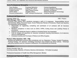 Business Office Manager Resume Medical Office Manager Resume Example Core Professional Strengths