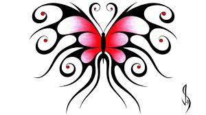 how i draw a swirly symmetrical butterfly design