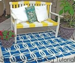 Painted Rug Stencils Best 25 Stencil Rug Ideas On Pinterest Inexpensive Rugs