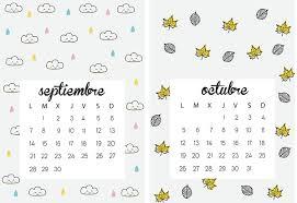 imagenes calendario octubre 2015 para imprimir calendario septiembre octubre moldes para manualidades