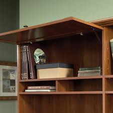 Sauder L Shaped Desks by Sauder Select Shaker Cherry Hutch 411316
