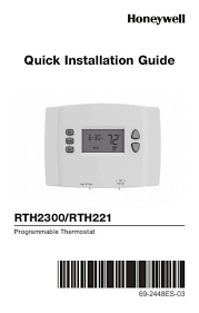 honeywell 1 week programmable thermostat rth221b1039 manual and