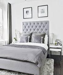 grey upholstered bed decor color schemes