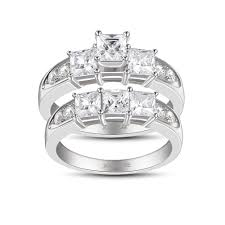 925 sterling silver engagement rings princess cut white sapphire s 925 sterling silver engagement