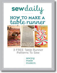 how to make a table runner 3 free table runner patterns to sew