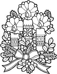church decoration candle coloring pages place color