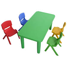 Colorful Furniture by Amazon Com Costzon New Kids Plastic Table And 4 Chairs Set