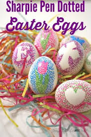 Easter Sunday Egg Decorating Kit by Set Out An Easter Egg Painting Station To Entertain The Kids This