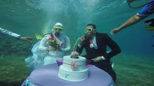 underwater wedding underwater wedding