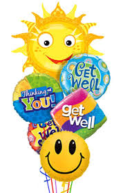 get well soon and balloons get well soon balloon bouquet