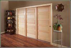 bypass closet door track home design ideas