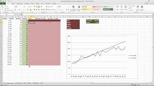 Demand Forecasting Excel Template by Forecasting In Excel Simple Linear Regression