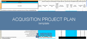 acquisition plan template mergers and acquisitions project plan templates