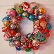 Homemade Christmas Wreaths by Decoration Ideas Endearing Image Of Colorful Glittery Bauble Bulb