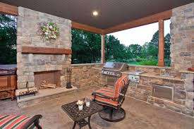 Outdoor Patio Fireplace Designs Decorations Rustic Patio With Outdoor Fireplace Decor And