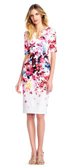 sheath dress sleeve in bloom sheath dress with notched accent
