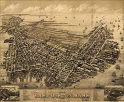 Maps Boston by View Of East Boston Massachusetts U2013 1879