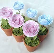 flower pot favors set of 3 shower favors party favors mini flower pot baby girl