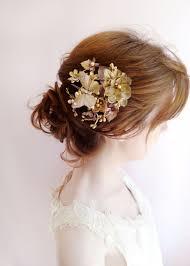 bridal hair clip ambrosia gilt butterfly hair clip