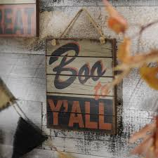 boo to y u0027all retro wooden sign retro spooky halloween and