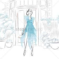 artistic fashion model sketch vector image 1964241 stockunlimited
