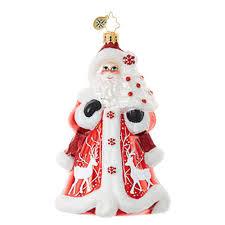 christopher radko ornaments radko santa claus crimson kris