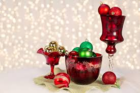 wine glass christmas ornaments 2 ruffle edge glass wine glass and glass dish free
