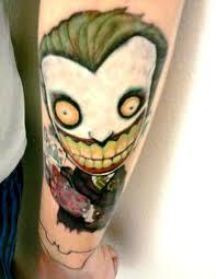 cool cartoon tattoos animated cartoon joker tattoo on forearm tattoos book