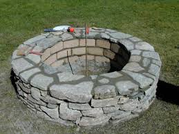 Backyard Stone Fire Pit by How To Build A Stone Fire Pit Concrete Stone And Backyard