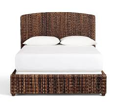 seagrass bed u0026 headboard pottery barn