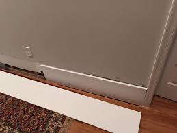 Laminate Flooring Baseboard How Would You Reattach This Baseboard Home Improvement Stack