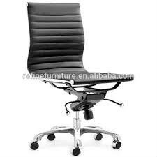 Mid Back Modern Task Executive Desk White Office Chair No Arms For