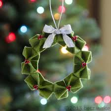 felt origami wreath origami felting and wreaths