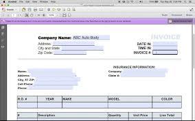 Free Auto Repair Invoice Template Excel Free Auto Repair Invoice Template Excel Pdf Word Doc Shop