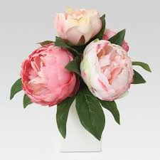 peony arrangement artificial peony arrangement pink in glass medium threshold