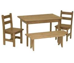 maple wood kids dining set from dutchcrafters