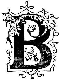b ornamental letter clipart etc