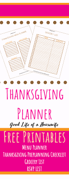 thanksgiving planner free printables