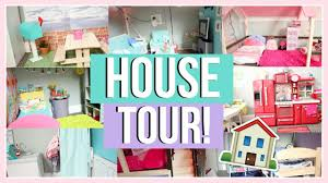 The Coolest Barbie House Ever by Huge Dollhouse Tour American Doll House Tour 2016 Youtube