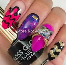 aliexpress com buy 5pcs glitter 2015 nail art rings multicolor