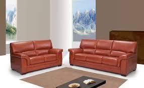 canape en cuir marron ensemble de canapés en cuir italien sofamobili