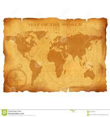 Vintage World Map by Old Vintage World Map Ancient Manuscript Grunge Paper Texture