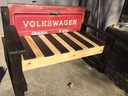 Bench Made From Tailgate Custom Made Volkswagen Tailgate Bench By Grit Unique Designs