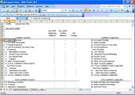 Flow Statement Template Excel Agricultural Economics Extension Integrated Farm Financial