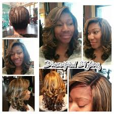 sew in with lace closure before and after sew in extensions with custom color and lace