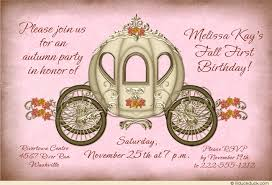 soft pink autumn princess invitation first birthday royal