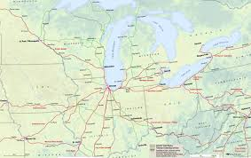 Ohio City Map Midwest Amtrak Route Map