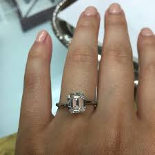 solitaire emerald cut engagement rings emerald cut solitaire weddingbee