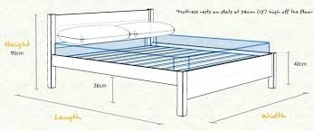 Height Of Bed Frame Bed Height Oxford Wooden Bed Frame Sizes And Dimensions Bed Height